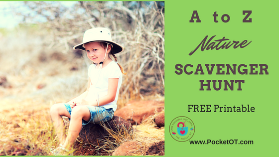 A to Z Nature Scavenger Hunt for Kids