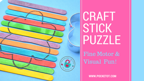 Spring Cookie Cutter Popsicle Stick Puzzle
